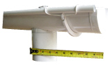 Side view of 6-inch half-round gutter