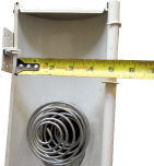 Top view of 5-inch half-round gutter shown